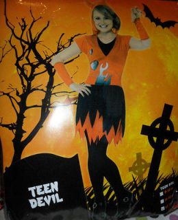 BNIP TEEN GIRL DEVIL COSTUME FANCY DRESS HALLOWEEN