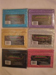 Glitter Card Wallet   Assorted Colors Pocket Wallet, Card Case, Credit