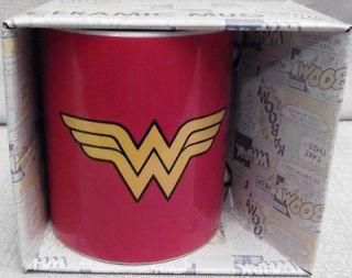 DC Comics WONDER WOMAN Logo Boxed Ceramic 12 oz Coffee MUG