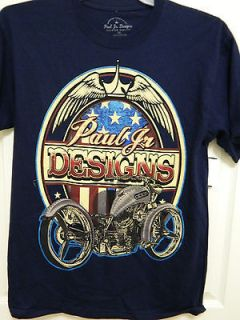 PAUL JR DESIGNS T SHIRT, MOTORCYCLE, CHOPPER, BIKER, OCC,P 51 MUSTANG