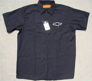 DICKIES Chevrolet Mechanic Chevy Truck Racing Work Shirt New Button Up