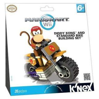 DIDDY KONG & STANDARD BIKE BUILDING SET   KNEX Nintendo Wii Mario Kart
