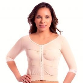 BREATHABLE LONG COMPRESSION POST SURGERY VEST/BRA WITH MEDIUM SLEEVES