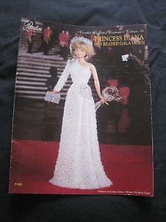 Diana 1985 Beaded Gala Gown Pattern Crochet Fashion Doll Barbie