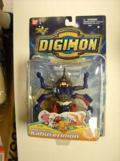 Digimon Digivolving KABUTERIMON figure mint on card Bandai US