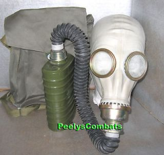 Genuine RUSSIAN MIL GAS MASK with Hose, Bag and Filter   M / L   **Un