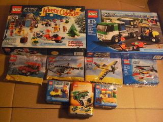 NEW! Lot of 9 Lego City Creator Sets Truck Mini Helicopter Airplane