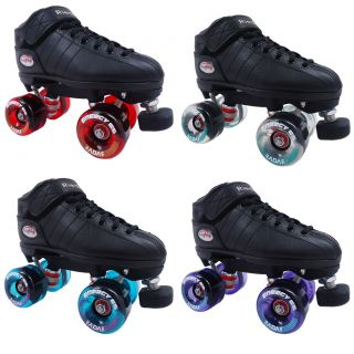 Riedell R3 Energy Clear Outdoor Quad Roller Derby Speed Skates