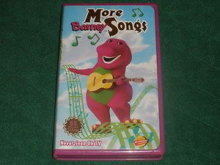 Barney the Dinosaur VHS Video~More Barney Songs~ActiMates Compatible