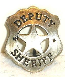 Deputy Sheriff Old West Police Badge Marshal Ranger