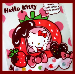 Hello kitty strawberry chocolate dessert candy transpartent gift bag