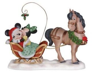 Momens Disney Mickey Mouse & Minnie MERRY KISS MISS Porcelain 6.75