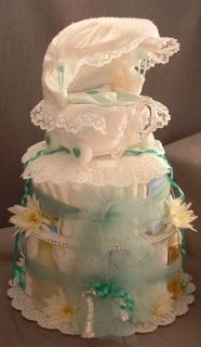 Carriage Diaper Cake Baby Shower Gift Centerpiece