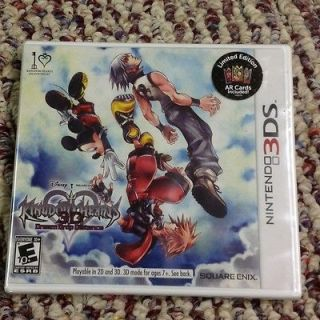 New Kingdom Hearts Dream Drop Distance Limited Edition   3DS AR Cards