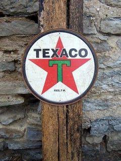 Antique Style Texaco Sign Ad Retro Basement Garage Decor Gas Pump