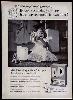 Vintage 1956 AD Advanced Detergent Clothes Laundry Soap Magazine Ad