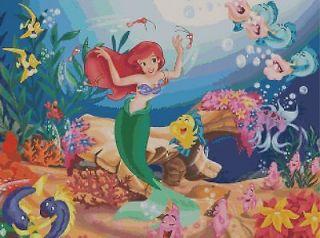 Disney Little Mermaid Cross Stitch Pattern