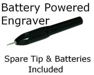 Battery Powered Hand Held Pen Style Diamond Tipped Engraver Metal