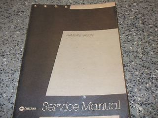1985 Dodge Ram Van Wagon Service Repair Shop Manual RWD OEM FACTORY