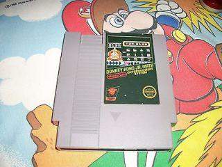 Donkey Kong Jr Math NES Original Nintendo Game RARE