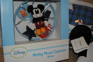NIP Disney Baby Mod Mickey Mouse Baby Bedding Set Vintage Mouse MOBILE
