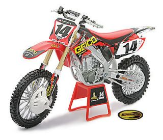 Geico Honda Crf450 New Ray Toys Dirt Bike 1:12 Scale Motorcycle