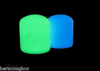 Pack GREEN GLO 2 Glow in the Dark Marine Boat Dock Post Caps