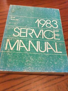 1983 Service Manual Colt Ram 50 Small Pickup Truck Repair Dealer Shop