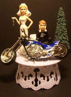 MOTORCYCLE PFIZER BIKE GOT THE KEY WEDDING CAKE TOPPER CHOPPER VIAGRA