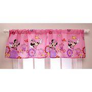 Disney MINNIE MOUSE Pink Window VALANCE Curtain Panel 4 Girls Room