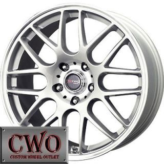 20 Silver Drag DR 37 Wheels Rims 5x114.3 5 Lug 350Z G35 Coupe Mustang