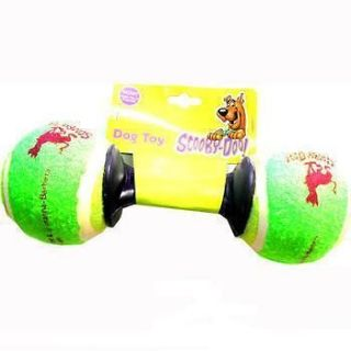 SCOOBY DOO DUMBELL TENNIS BALL DOG TOY   GIFT PET