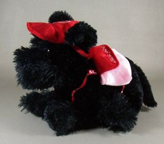 Scottie Dog Plush Stuffed Animal Dog Valentines Day Hat & Backpack