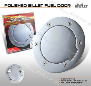 BULLY DODGE RAM 1500 BILLET CHROME GAS FUEL FILLER DOOR ALUMINUM NEW