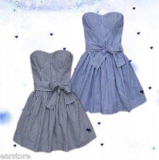 NWT Abercrombie Women Whitney Dre Pretty Dress Stripe #0264 $78
