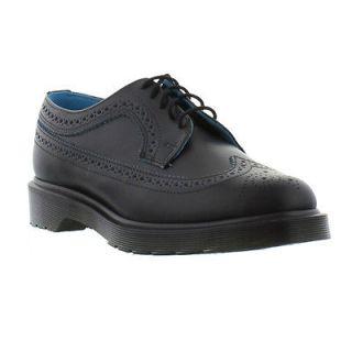 Dr Martens Shoes Genuine 3989 Brogue Mens Shoe Black Blue Smooth Sizes