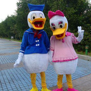 NEW Donald Duck and Daisy Duck CARTOON CLOTHING MASCOT COSTUME