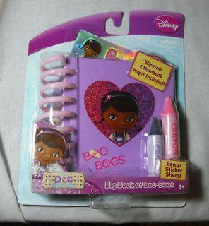 NIP Disney Jr Doc McStuffin Big Book of Boo Boos Wipe Off Notebook w
