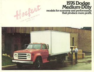 1976 Dodge MEDIUM DUTY Truck Brochure D500,D600,D700 ,D800,W600,D 5