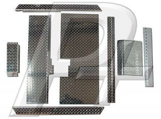 Club Car DS Golf Cart Diamond Plate Combo Accessory Kit with Floor