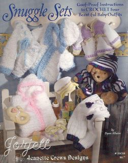 Snuggle Sets goof proof easy baby crochet patterns