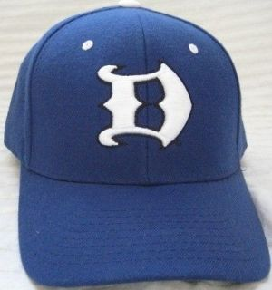NEW DUKE BLUE DEVILS FITTED 7 5/8 HAT CAP NCAA GOTHIC