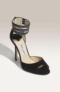 Jimmy Choo Maxim Collection Swarovski Crystal Peep Toe Pump Heels