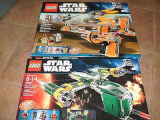 Lego Star Wars X2 7930 Bounty Hunter Assault 7962 Anakins & Sebublas