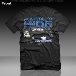 Repo Rebel Black Tow Truck Shirt  Nowhere to Hide
