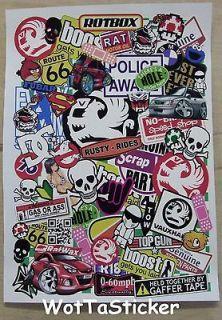 Vauxhall Sticker Bomb Sheet Drift Decal Car stickers RC phone laptop