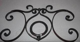 Wrought Iron Art Over Door Wall Hanging Decor House Plaque O Letter