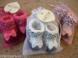 BNWT BABY GIRLS LEOPARD PRINT SOCKS IN A VOILE PRESENTATION BAG. FAB