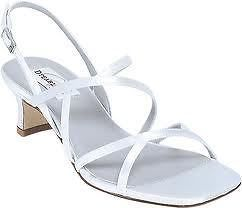 NEW DYEABLES SHOES ERIN WHITE SATIN BRIDAL PROM WEDDING HEELS STRAPPY