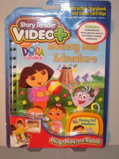 Story Reader Video + Plus Dora The Explorer Book   NEW Bouncy Ball